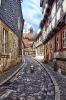 eine Gasse in Quedlinburg