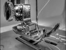 Detail einer Nähmaschine
