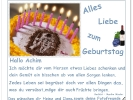 Dein Geburtstag ist heut `