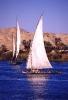 Fahrt unter Segeln auf dem Nil...